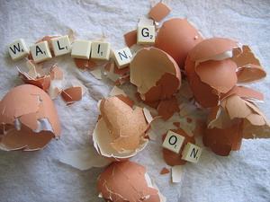 Walking on eggshells in a relationship